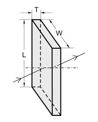 Custom Rectangular laser windows